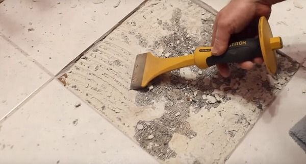 Ceramic tile demolition