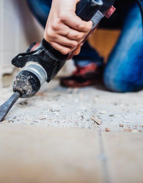 ceramic tile demolition works
