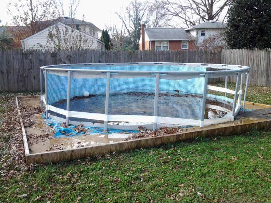 Above Ground Pool Demolition process