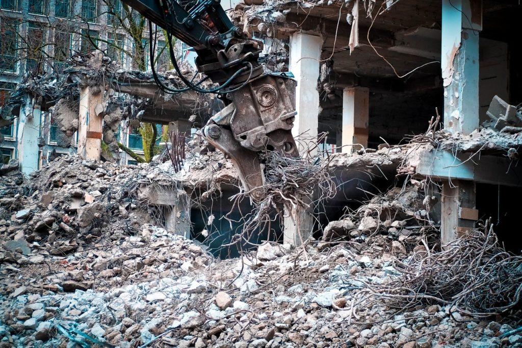 Round Building Demolition