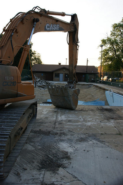 Inground pool demolition works