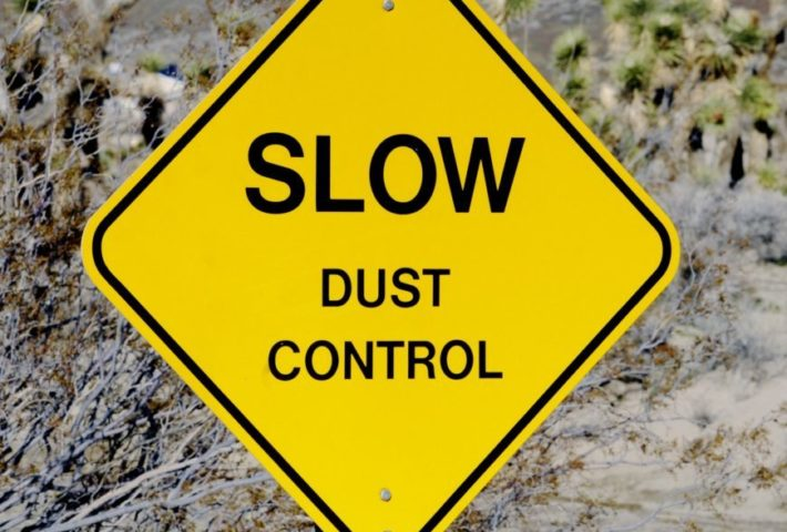 Dust control demolition works