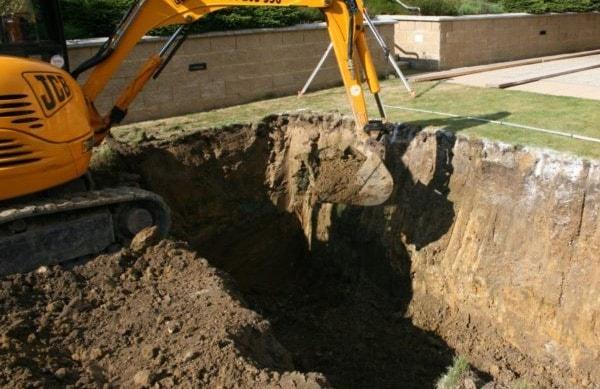 pool demolition works