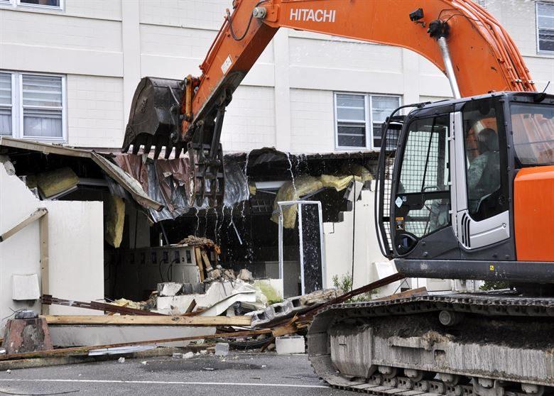 emergency demolition works