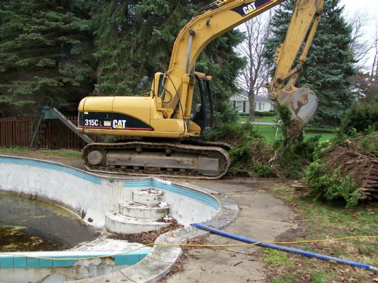 The cost of demolishing an inground pool
