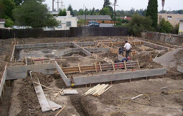 foundation works on site
