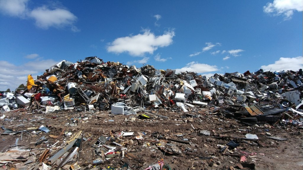 The scrap metal recycling works