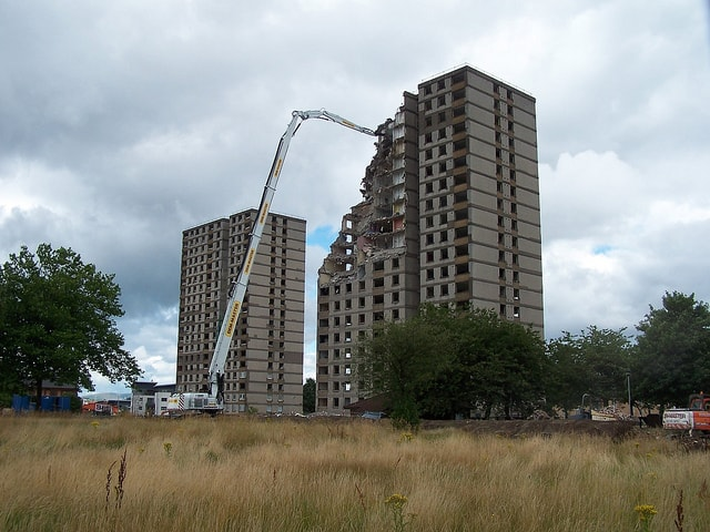 High reach demolition project